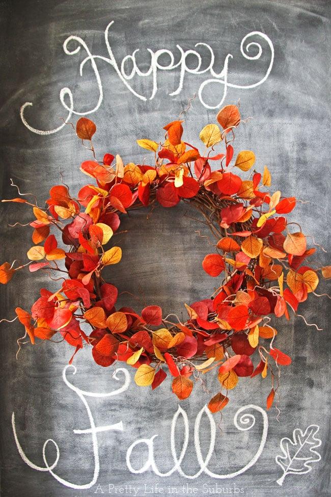 $20 DIY Fall Wreath {A Pretty Life}