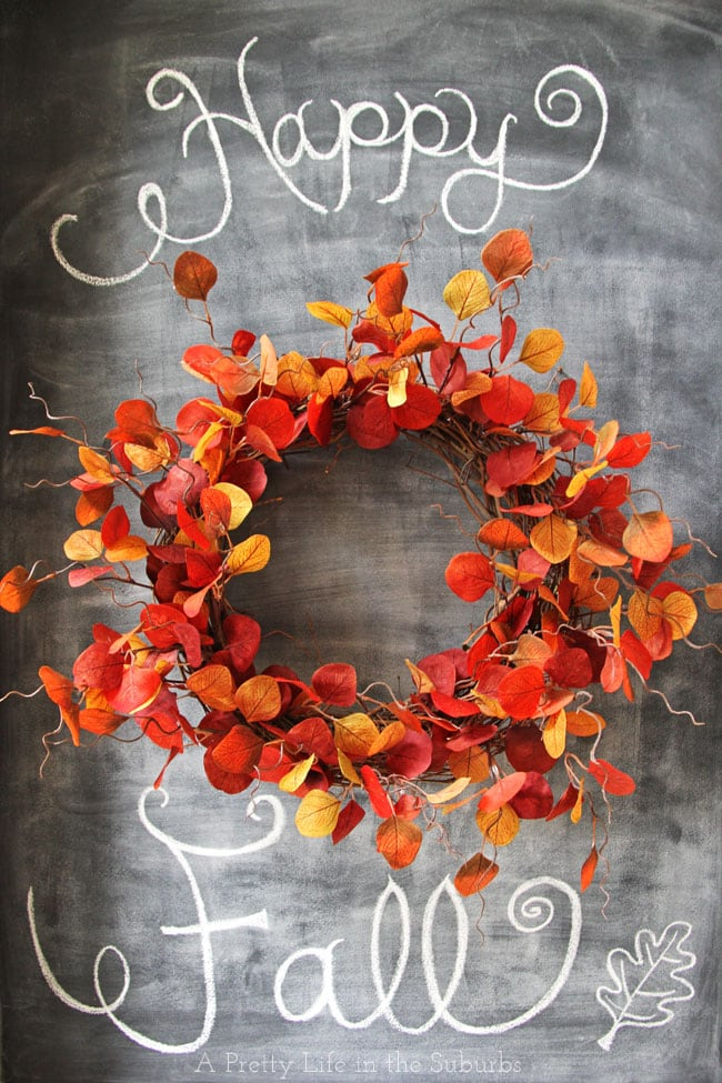 Fiery Fall Leaf Wreath
