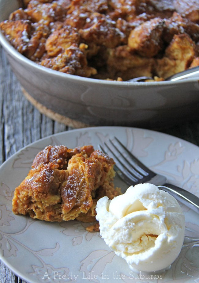 Pumpkin Bread Pudding - A Pretty Life In The Suburbs