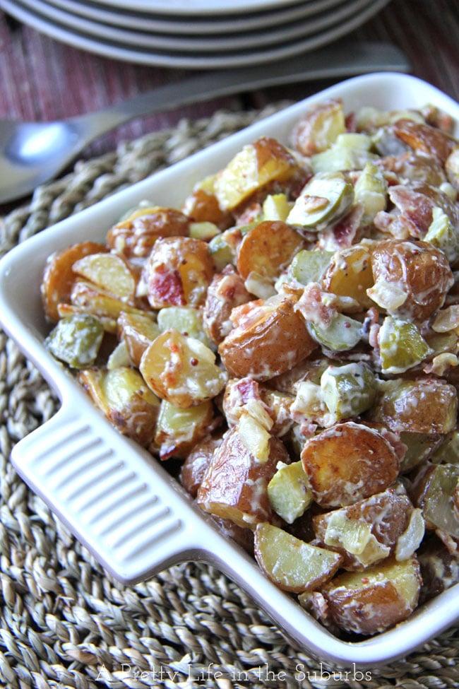 Warm-Potato-Salad-2{A-Pretty-Life}