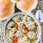 Turkey Meatball Noodle Soup