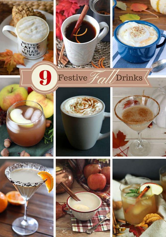 9 Festive Fall Drinks {A Pretty Life}