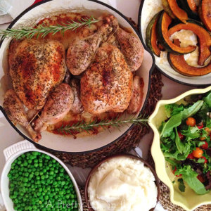 2-Roasted-Chickens,-7-Meals-{A-Pretty-Life}
