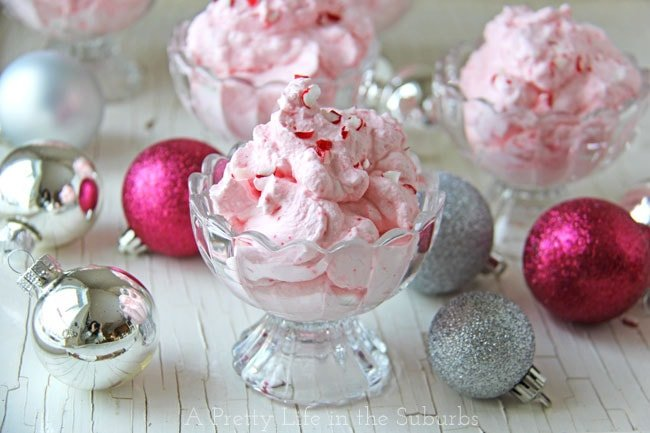 Candy Cane Cloud Dessert {A Pretty Life}