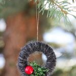 Mini Yarn Wreath Christmas Ornaments