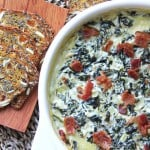 Baked-Goat-Cheese-&-Bacon-Spinach-Dip-2{A-Pretty-Life}