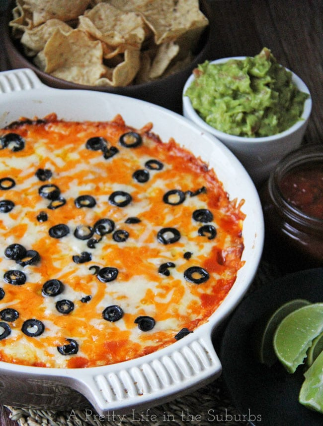 Cheesy Baked Mexican Chicken Dip