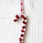 DIY Candy Cane Jingle Bell Ornaments