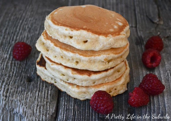 Eggnog Pancakes are a great Christmas breakfast! So delicious!