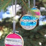 Mini Embroidery Hoop Christmas Ornaments