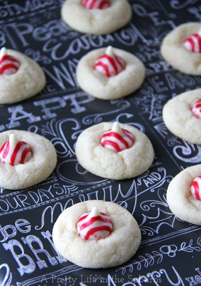 Peppermint Kiss Sugar Cookies {A Pretty Life}