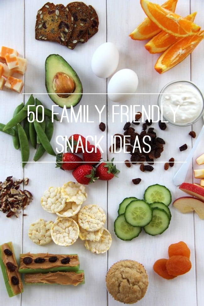 50 Family Friendly Snack Ideas {A Pretty Life}