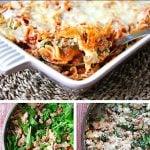 Ground Chicken & Spinach Noodle Bake