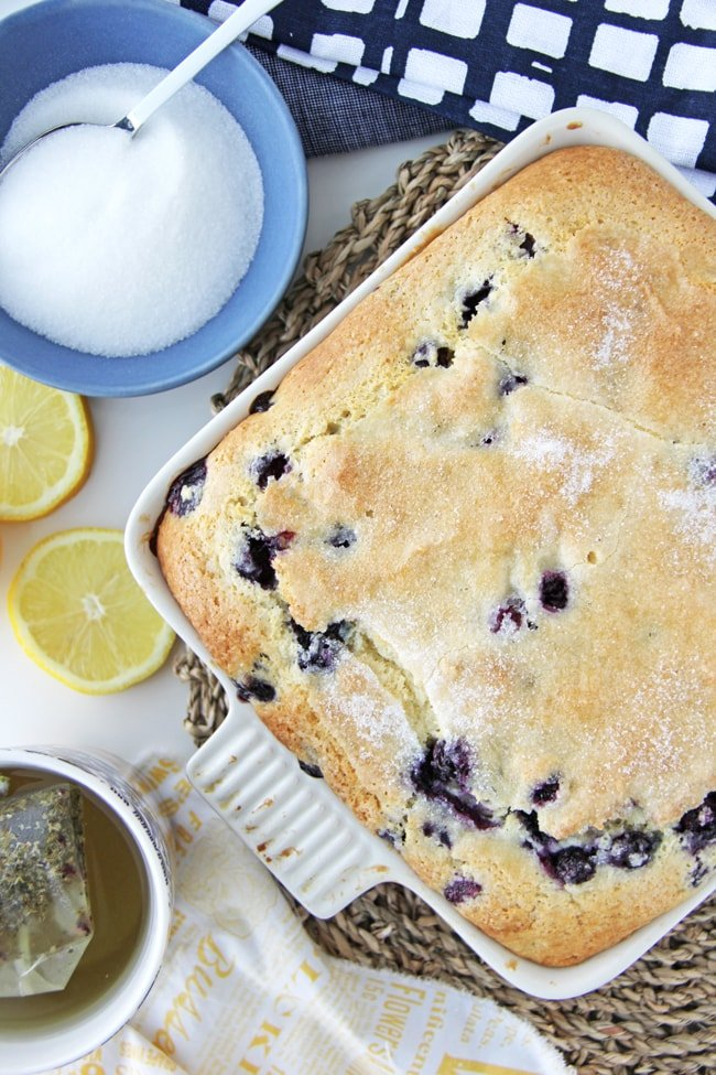 Blueberry Buttermilk Breakfast Cake 3{A Pretty Life}