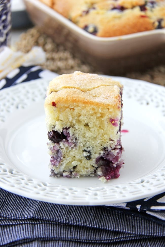Blueberry Buttermilk Breakfast Cake 5{A Pretty Life}