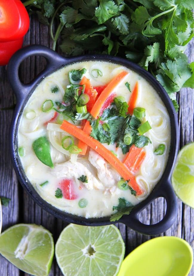 Coconut Curry Noodle Soup 3 {A Pretty Life}