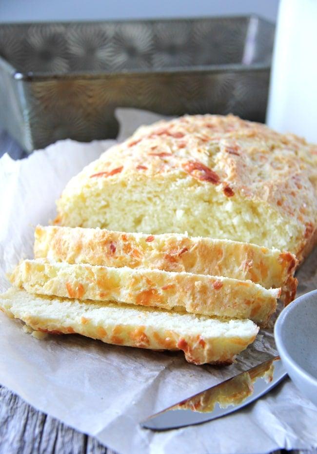 Mozzarella and Parmesan Buttermilk Quick Bread