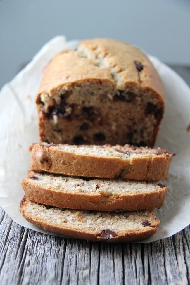 Peanut Butter Banana Bread {A Pretty Life}