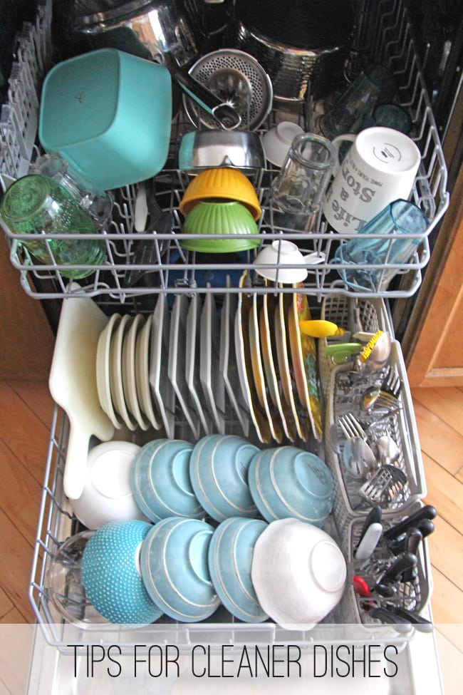 Tips for Cleaner Dishes {A Pretty Life}