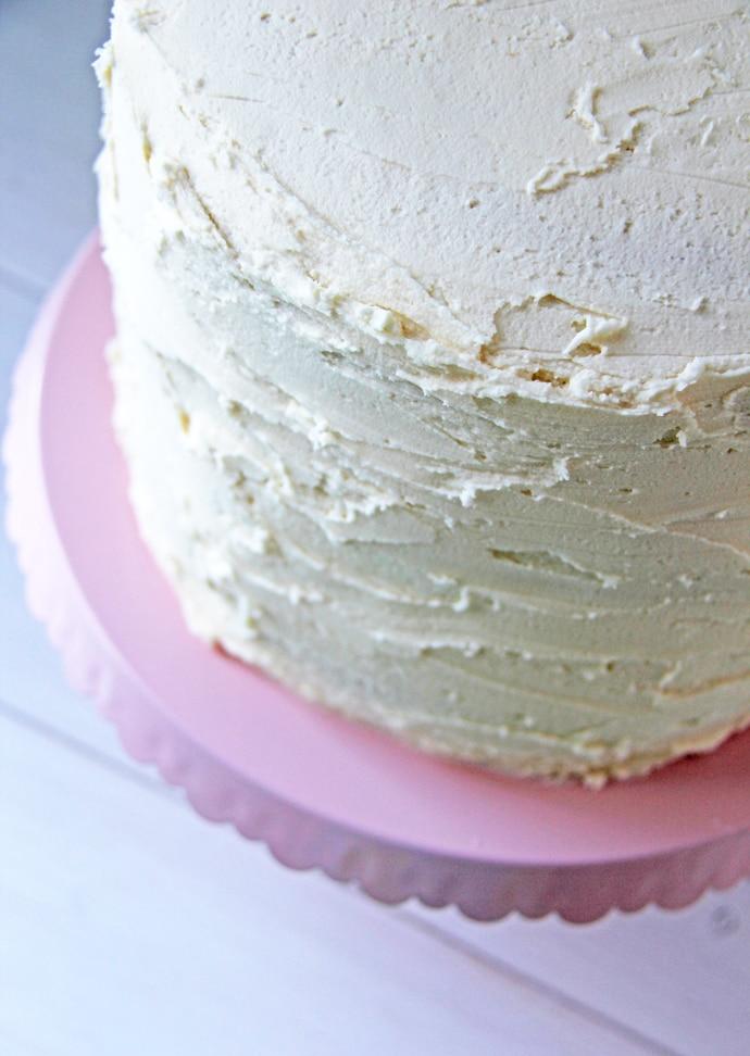 Vanilla Cake with Vanilla Buttercream