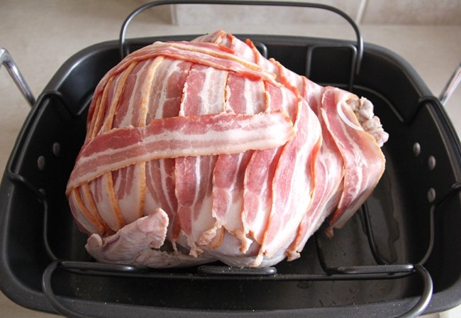 Bacon Wrapped Roast Turkey - A Pretty Life In The Suburbs