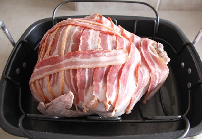 Bacon Wrapped Roast Turkey {A Pretty Life}