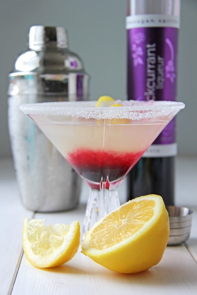 Summer Drinks: Blackcurrant Lemon Drop Drink