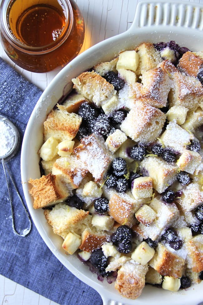 Blueberry Baked French Toast 4{A Pretty Life}