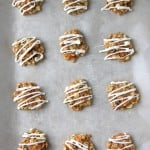 Carrot Cake Cookies with Cream Cheese Drizzle 2{A Pretty Life}