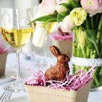 Chocolate Bunny Table Setting Idea