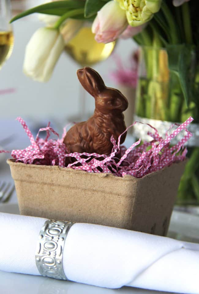 Chocolate Easter Bunny Place Setting