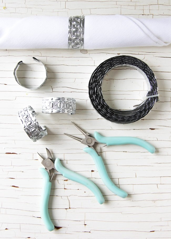 DIY Pressed Tin Napkin Rings