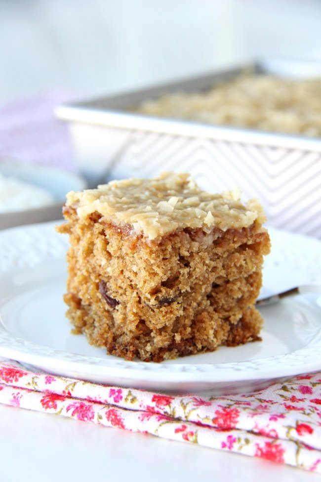 Raisin Oatmeal Sheet Cake Recipe