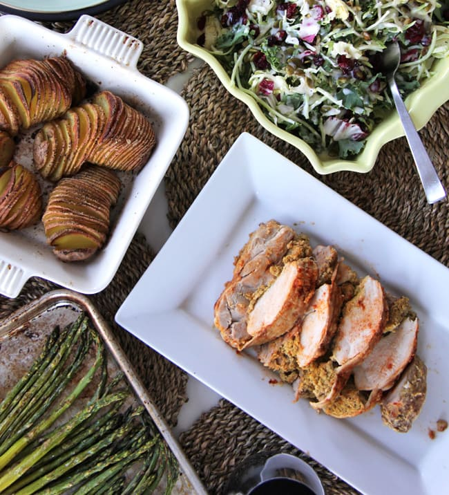 A Simple Family Dinner + A Recipe for Accordion Potatoes
