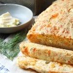 Cheddar and Dill Buttermilk Quick Bread  {A Pretty Life}