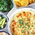 Easy Green Chile Chicken Enchilada Casserole