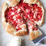 Strawberry Rhubarb and Apple Galette  {A Pretty Life}