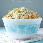 Creamy Cheddar Macaroni Salad 1  {A Pretty Life}