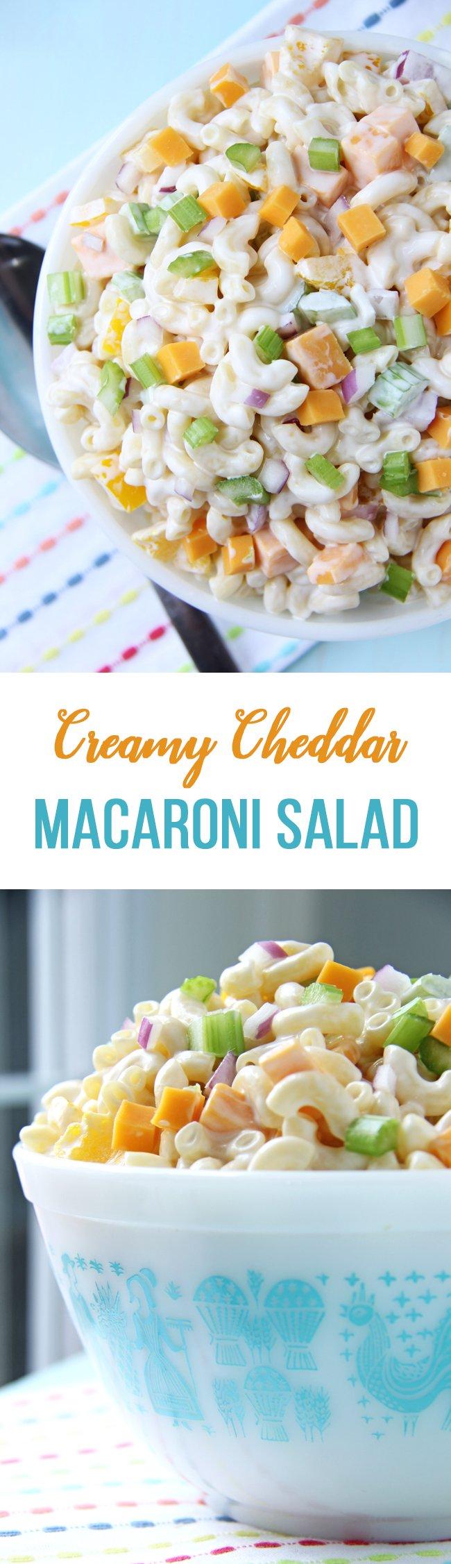 Creamy Cheddar Macaroni Salad