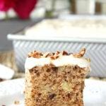 A square of Hummingbird Sheet Cake
