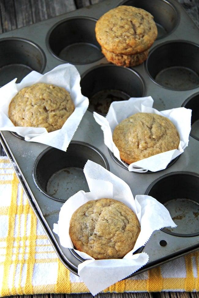 The Easiest Banana Muffin Recipe