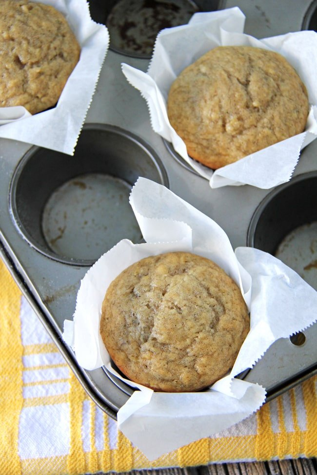 The Easiest Banana Muffin Recipe