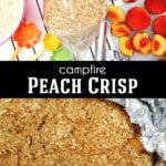Campfire Peach Crisp