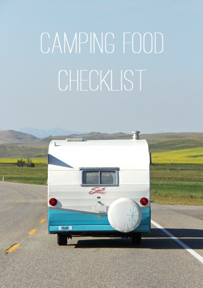 Camping Food Checklist