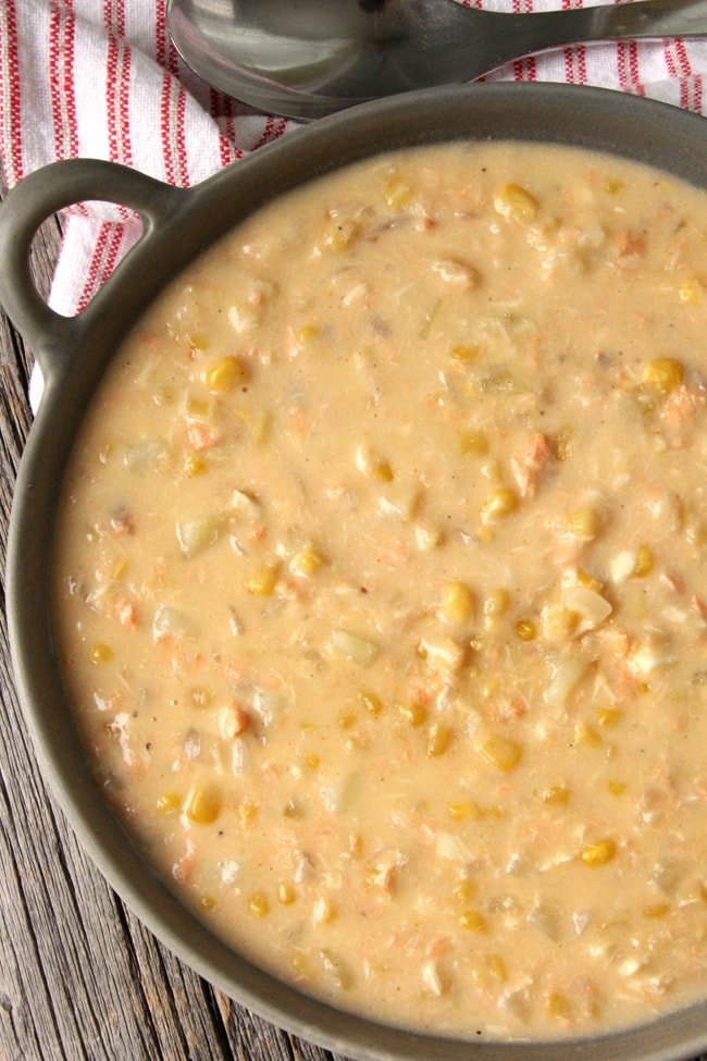 Hearty fish chowder a pretty life in the suburbs for Easy fish chowder