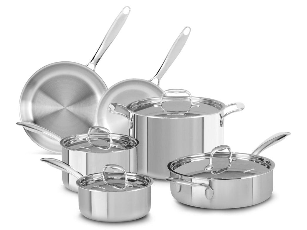 KitchenAid Tri-Play Stainless Steel 10-piece Set
