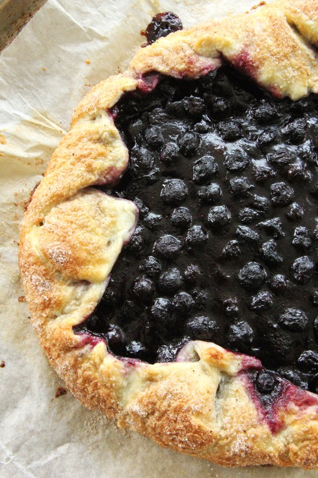 Saskatoon Berry Galette - A Pretty Life In The Suburbs