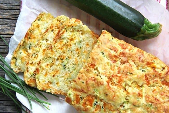 Zucchini, Cheddar & Chive Buttermilk Quick Bread 2