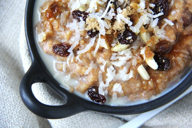 Creamy Slow Cooker Pumpkin Spice Steel Cut Oats