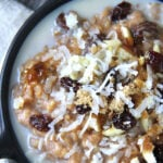 Creamy Slow Cooker Pumpkin Spice Oats in a bowl